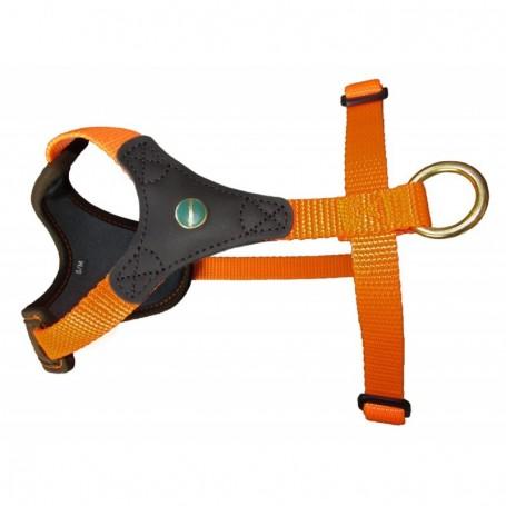 szelki dla psa Niggeloh pomarańczowe Start 2 zapięcia Niggeloh GmbH Germany szelki dla psa myśliwskiego